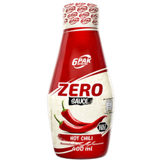 6PAK Nutrition Sauce ZERO Hot Chili - 400ml