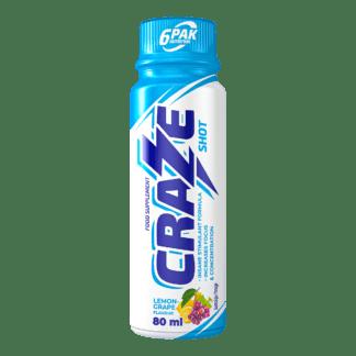6Pak Craze Shot - 80ml lemon grape