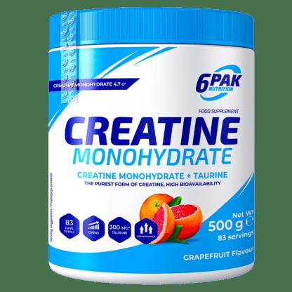 6Pak Creatine Monohydrate - 500g grapefruit