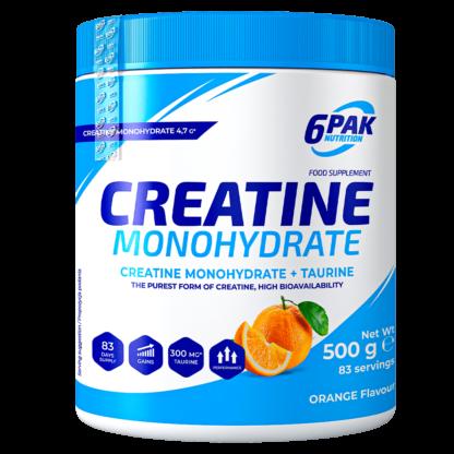 6Pak Creatine Monohydrate - 500g orange