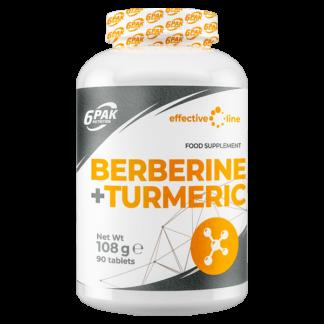 6Pak Effective Line Berberine + Turmeric - 90 tabletek