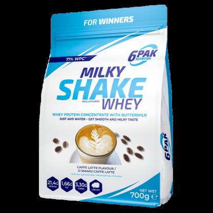 6Pak Milky Shake Whey - 700g caffe latte