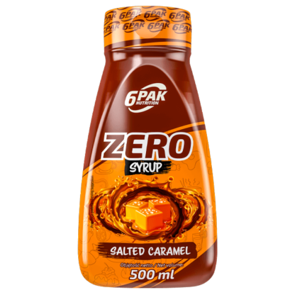 6Pak Zero Syrup - 500ml salted caramel