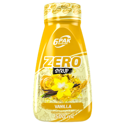 6Pak Zero Syrup - 500ml vanilla