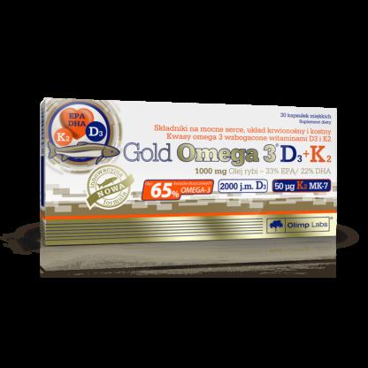 Olimp Gold Omega 3 D3 + K2 - 30 kaps