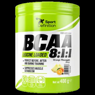 Sport Definition BCAA 811 - 400g - pomarancz ananas