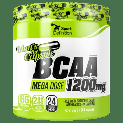 Sport Definition BCAA MEGA DOSE 1200mg - 240 kaps. + 24 kaps. GRATIS