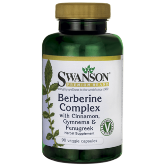 Swanson Berberine Complex with Cinnamon, Gymnema & Fenugreek - 90 kaps