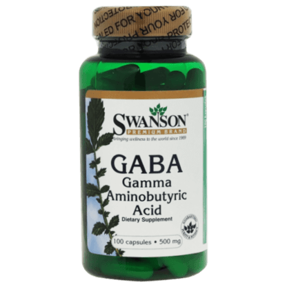 Swanson GABA Gamma Aminobutyric Acid 500mg - 100 kaps