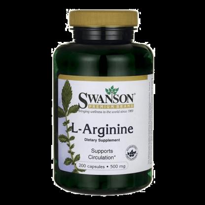 Swanson L-Arginine 500mg - 200 kaps