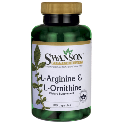 Swanson L-Arginine & L-Ornithine - 100 kaps