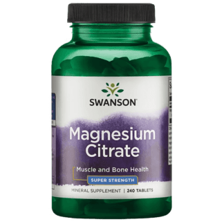 Swanson Magnesium Citrate Super Strength Cytrynian Magnezu - 120 tabl