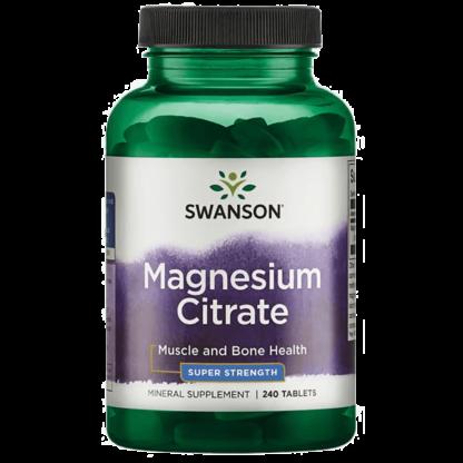Swanson Magnesium Citrate Super Strength Cytrynian Magnezu - 120 tabl