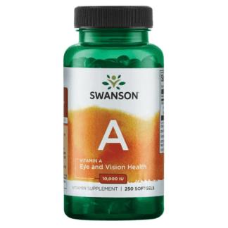 Swanson Vitamin A 10.000 IU - 250 kaps