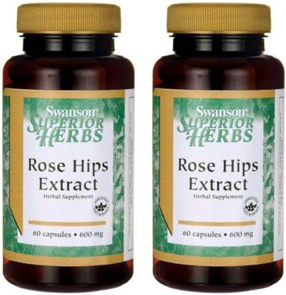 Swanson Rose Hips Extract 600 mg - 60 kaps.