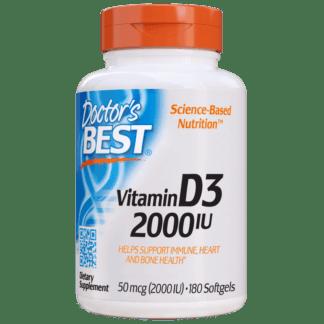 Doctor's Best Vit.D3 2000IU - 180 kaps.