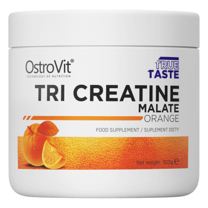 OstroVit Tri-Creatine Malate Pomarancz - 300g
