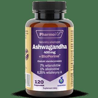 PharmoVit Ashwagandha Bioperine 400mg - 120kaps