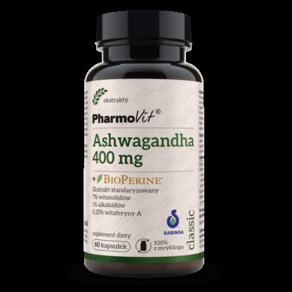 Pharmovit Ashwagandha 400mg + BioPerine -120 kaps.