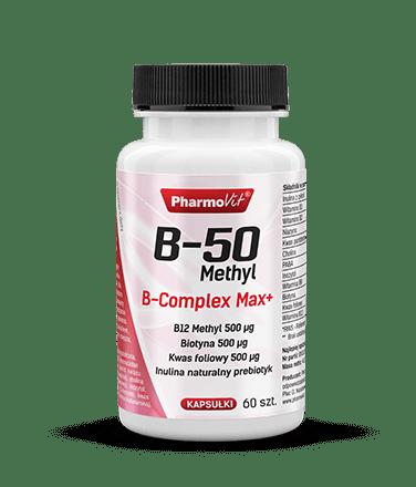 Pharmovit B-50 Methyl B-complex Max+ - 90 kaps.