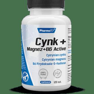 Pharmovit Cynk + Magnez + B6 Active - 120 kaps