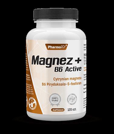Pharmovit Magnez + B6 Active - 120 kaps.