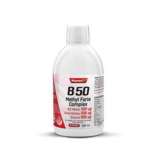 Pharmovit Witamina B50 Methyl Forte Complex Kwas Foliowy Biotyna - 500ml