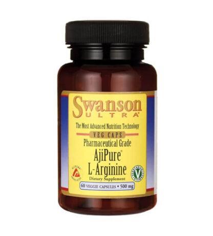 Swanson AjiPure L-Arginina 500mg - 60kaps.