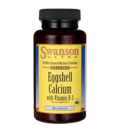 Swanson Eggshell calcium & Vitamin D-3 - 60kaps