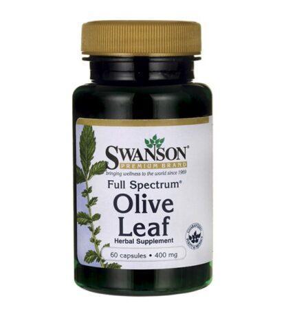 Swanson FS Olive Leaf 400mg - 60 kaps