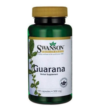 Swanson Guarana 500mg - 100 kaps
