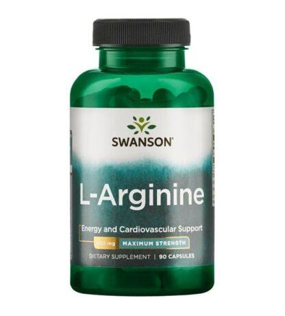 Swanson L-Arginina Forte 850mg - 90 kaps