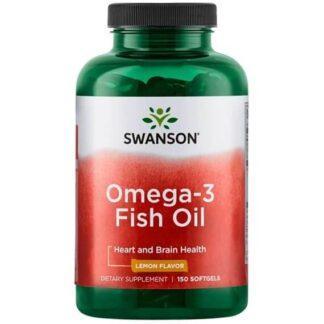 Swanson Omega-3 Smak Cytrynowy - 150 kaps