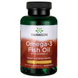Swanson Omega-3 & Witamina D-3 - 60 kaps
