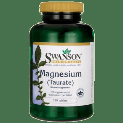 Swanson Taurynian Magnezu 100mg - 120tabl
