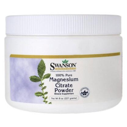 Swanson Cytrynian Magnezu 100% czystości- 227g