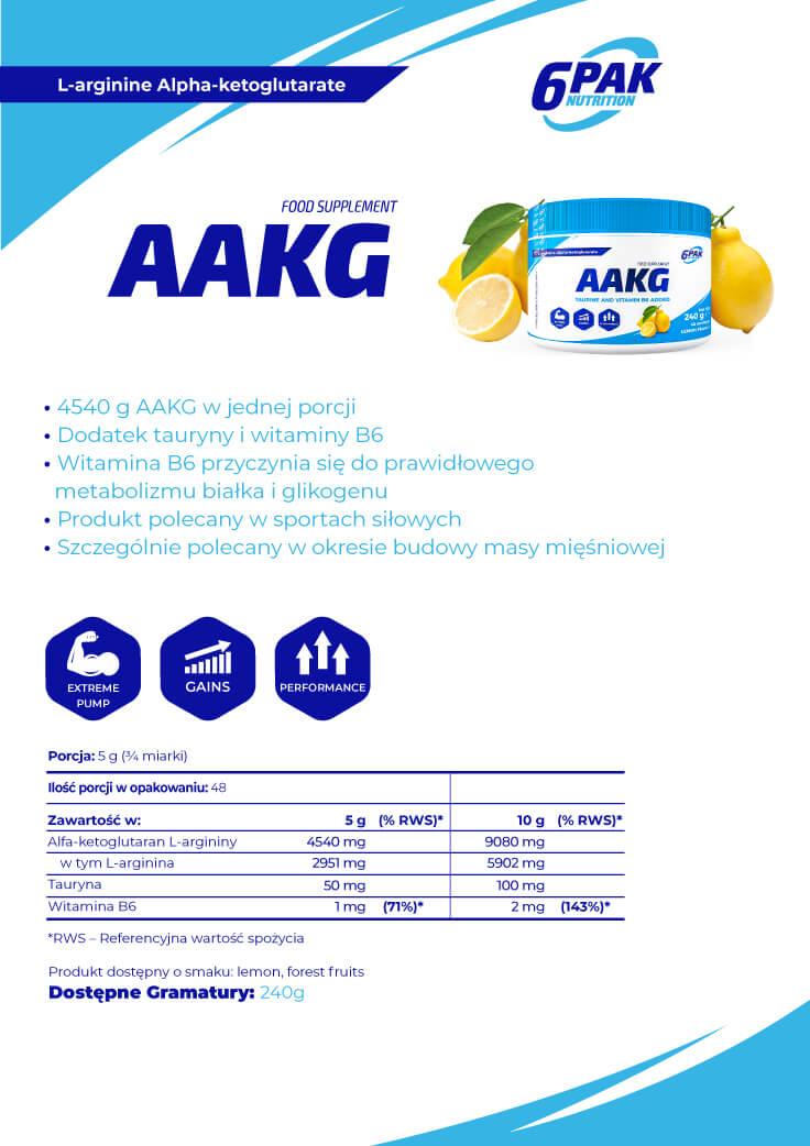 6PAK Nutrition AAKG Baner - 240g