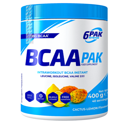 6PAK Nutrition BCAA PAK Kaktus Cytryna - 400g