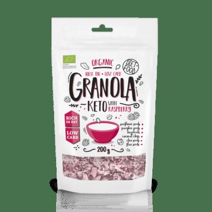 Diet Food Bio Keto Granola Z Maliną - 200g