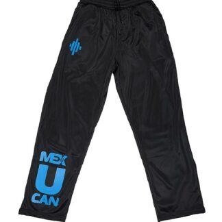 MEX Męskie Czarne Spodnie Śliskie
