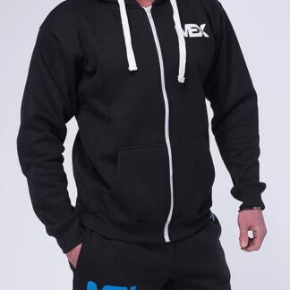 MEX NYC Zipped Hoodie - Black